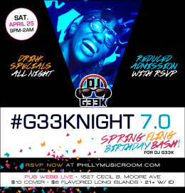 #G33kNight 7.0: Spring Fling / Birthday Bash for DJ G33k