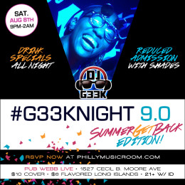 Philly Music Room Presents #G33kNight 9.0