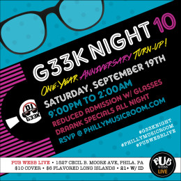 Philly Music Room Presents: #G33kNight 10: One-Year Anniversary Turn-Up!