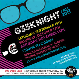 Philly Music Room Presents: #G33kNight Fall 2015