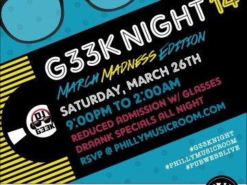 G33k Night 14: March Madness Edition