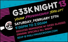 G33k Night 13: Young Professionals Turn-Up!