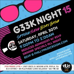 #G33kNight 15: Spring Fling Bday Bash!