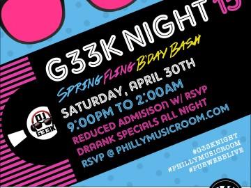 #G33kNight 15: Spring Fling Bday Bash!