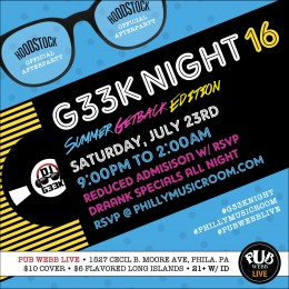 #G33kNight 16: Summer Getback Edition