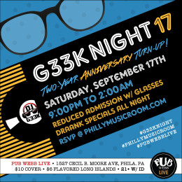 Philly Music Room Presents #G33kNight 17 Featuring DJ G33k