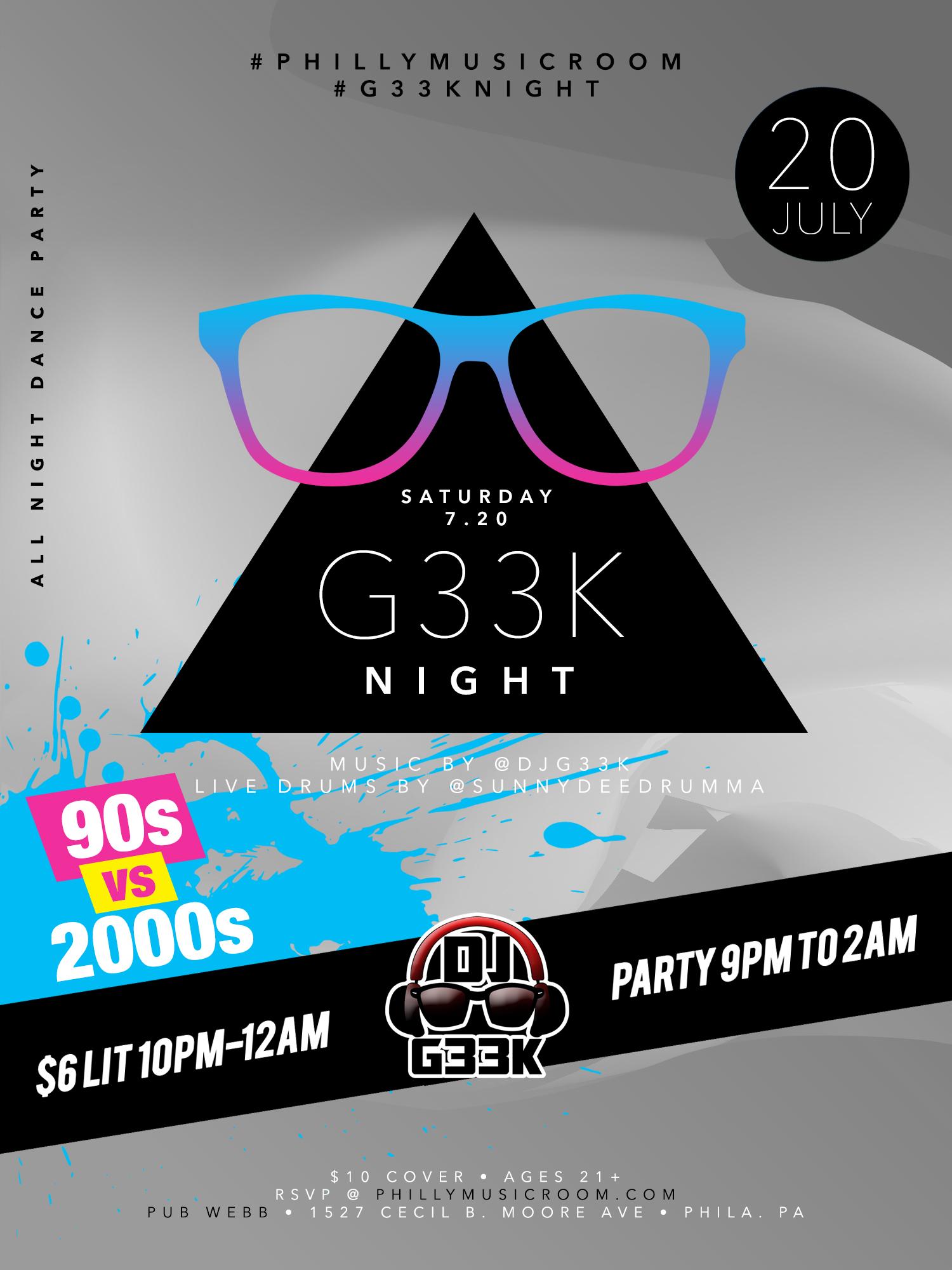 #G33kNight / DJ G33k